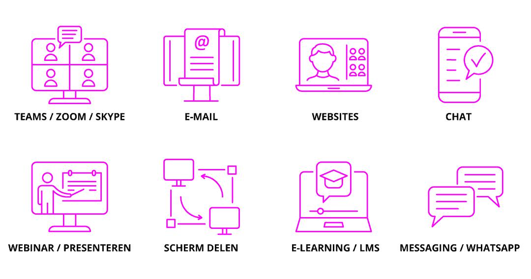 infographic online communicatie